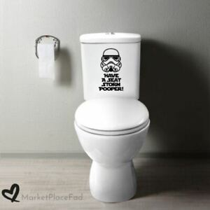Star Wars Decal Bath Wall Vinyl Home Decor Parody Funny HAVE A SEAT STORMPOOPER