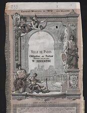 TOP DECO => Emprunt de la VILLE de PARIS 1912 (C)