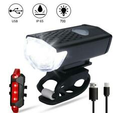 2020 USB Rechargeable Mountain Bike Lights Bicycle Torch Front & Rear Lamp Set
