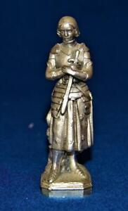 Knight Women with a child Metal Pewter? Military Figurine signed DSR