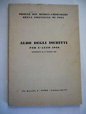 ORDINE DEI MEDICI DI PISA ALBO ISCRITTI PER L'ANNO  1968