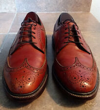 Vintage Florsheim Imperial Brown Leather Wing Tip Brogue Oxford Shoes 10.5 C