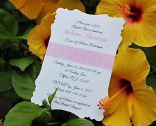Personalized Lace Bridal Shower Invitations - All Wording Customized