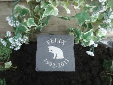 Limestone Cobble Grave Marker Pet Cat Memorial