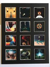 "ELO Electric Light Orchestra LP Discography Mounted Picture 14"" by 11"" Free P&P"