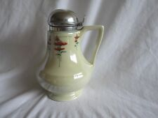 Royal Rochester Fraunfelter Art Deco Ceramic China Lusterware Red Poppy Syrup LK