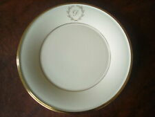 "LENNOX ETERNAL SIX Monogrammed Script ""D""  LUNCHEON PLATES and THREE CUPS"