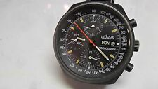VINTAGE LeJour Valjoux 7750 Chronograph Black Ops All Original With Factory Band