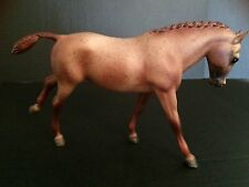 BREYER #866 PLAIN PIXIE RED ROAN CANTERING WELSH PONY HORSE