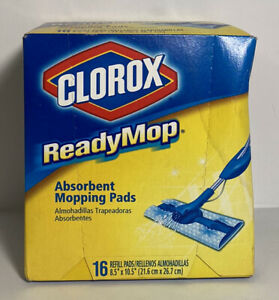 Clorox ReadyMop Absorbent Mopping Pads 16 Refill Pads Floor Cleaner 8.5 x 10.5