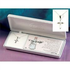 "Godmother Petal Cross Silver Plated Necklace on 18"" Chain, by Dicksons 73-2896P"