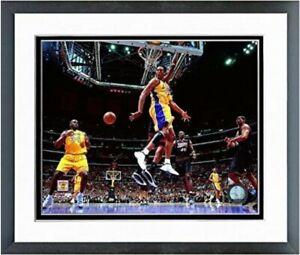 "Kobe Bryant & Shaquille O'Neal LA Lakers NBA Photo (Size: 12.5"" x 15.5"") Framed"