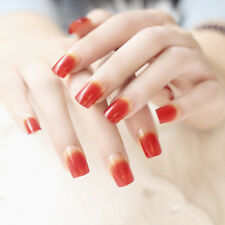 24*Charm false fake artificial toe nails tips nail art rendering 8 colors RF