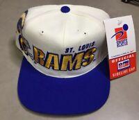 NWT 90s St. Louis Rams Vintage Snapback Hat Sports Specialties Pro Line NFL Cap