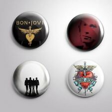 4 BON JOVI - Pinbacks Badge Button 25mm 1''