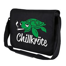 Chillkröte Schildkröte Fun Schwarz Motiv Comic Spaß Umhängetasche Messenger Bag