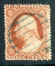U.S. Stamps, Scott #26, Used, Blue Fancy Cancel, Value: $30*.  [0610]