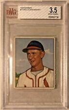 1950 Bowman RED SCHOENDIENST Vintage Card #71 HOF Cardinals Graded BVG 3.5
