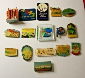 Fridge Magnets Bundle Joblot Rare Collectible 16 Items Promotional places