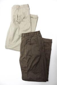 Polo Ralph Lauren Mens Pleated Khakis Dress Pants Tan Size 35 36 Lot 2