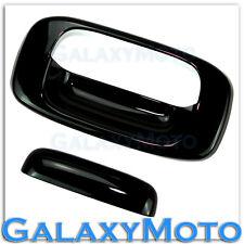 99-06 Chevy Silverado 1500+2500+3500 Gloss Shiny Black Tailgate Handle Cover