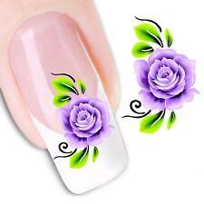 Nail Art de transferencia de agua Pegatina Adhesivos Calcomanías Flores Floral (DX1170)