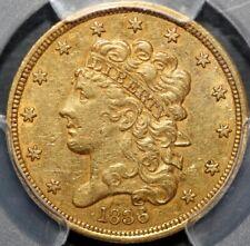 1836 $5 Classic Head Gold Half Eagle  PCGS AU50