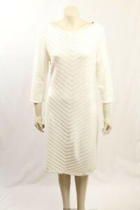 NEW Ralph Lauren -Size XL- Stretch Cotton White Sweaterdress-RRP:$144.00