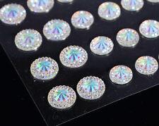 CraftbuddyUS CB66SW 50 Self Adhesive AB Pointed Faceted Diamnte Rhinestone Gems