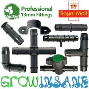 Antelco 13mm Tee Elbow Hose Fitting Garden Irrigation Pipe Connector