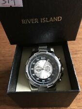 Gents New RIVER ISLAND Large Dial SS Watch and Strap  W379