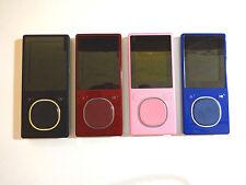 MICROSOFT  ZUNE  4GB, 8GB...BLACK, RED, PINK, BLUE...NEW BATTERY...