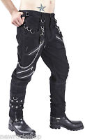 New Dead Threads Black  Men Trousers Cotton Studs Punk Metal Emo Rock