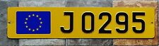 Luxembourg License Plate      J = Rental car