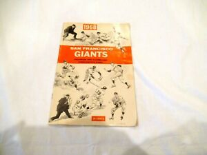 San Francisco Giants baseball team 1968 program and scorecard