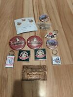 Vintage Lot Budweiser Pins Key Chain Clydesdale Collectors Belt Buckle Hat