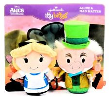 Hallmark Disney Alice in Wonderland Alice Mad Hatter Itty Bittys Plush Card Set