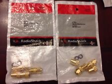 Radio Shack F Pin Quick Connector for RG6U 24 kt. Gold Plated, 274-0028, Qty 4