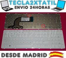 TECLADO PARA PORTATIL HP/COMPAQ 720597-071  EN ESPAÑOL NUEVO CON MARCO BLANCO