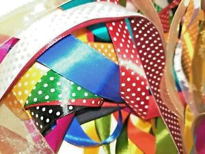 10Meter Satin Ribbon TRIMMING Off-cuts Bundle XMAS B'DAY CRAFTS Assorted Colours