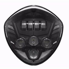 Black LED Headlight for Victory Magnum, Hammer, Vegas Motorcycle Daymaker Lights