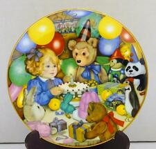 "1985 CAROL LAWSON Collector Plate ""TEDDY'S BIRTHDAY PARTY"" FRANKLIN PORCELAIN"