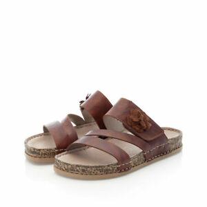 Rieker Pantolette Pantoletten Sandale Sandalen Hausschuhe 68251 braun NEU!