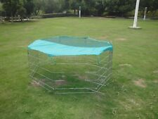 Valentina Valentti wire pet play pen with cover  80cm x 75, 8 pieces