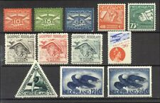 NETHERLANDS #C1-12 MInt - 1921-53 Complete Airmails ($80)