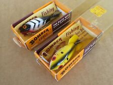 New listing Two Vintage Bomber Lure w/ Box & Catalog Model 300 & 381 Gainesville, Texas Nice