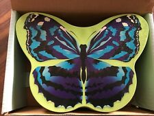 PartyLite #P7052 Blue Wing Butterfly Tin 8 Candles 1 Votive Set New