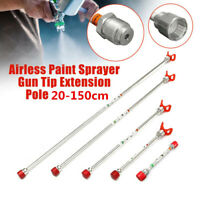 Universal Airless Paint Sprayer Spray Gun Tip Extension Pole Rod 20/30/50cm