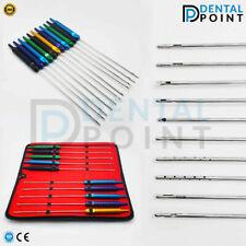 Liposuction Cannula Set of 11 pcs Fixed Aluminium color Handle 25cmx4mm Cannulas