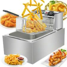 2500W 6.3QT Electric Countertop Deep Fryer Basket Restaurant 6L Liter